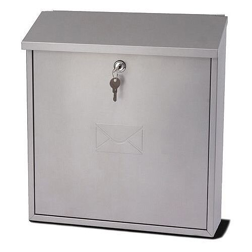 Severn Extra Wide Post Box Silver