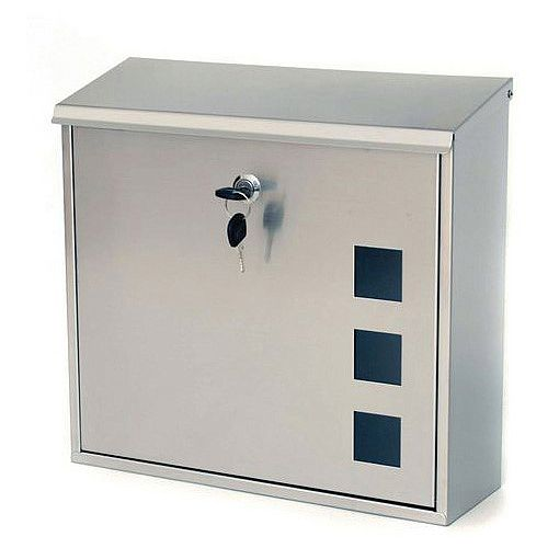 Aire Post Box With Viewing Window Stainless Steel