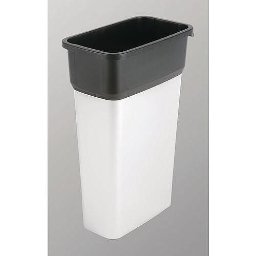 Vileda Geo Range Recycling Compact Slim Bin 70L Metallic/Black Without Lid