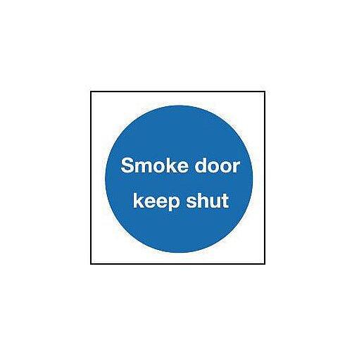 Self Adhesive Vinyl Smoke Door Keep Shut Sign