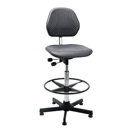Heavy Duty Pu Chair With Steel Base And Glides