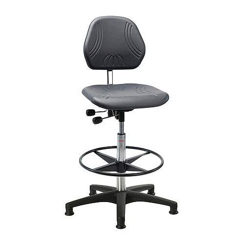 Heavy Duty Pu Chair With Nylon Base And Glides