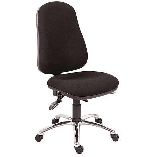 Ergo Comfort 24 Hour High Back Task Operator Office Chair With 5 Star Nylon Base Black