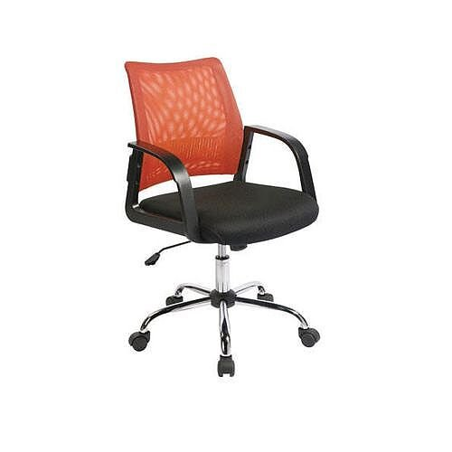 Coloured Back Mesh Task Operator Office Chair Black &Orange