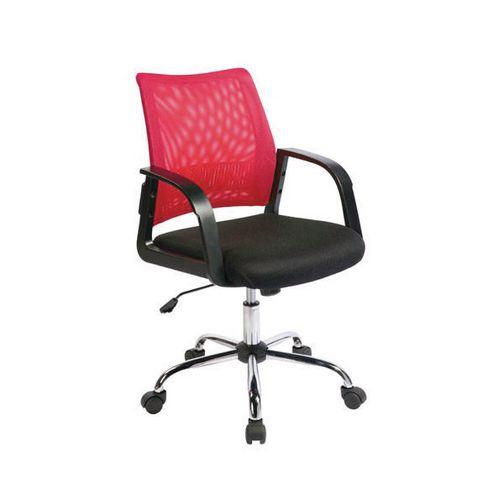 Coloured Back Mesh Task Operator Office Chair Black &Raspberry