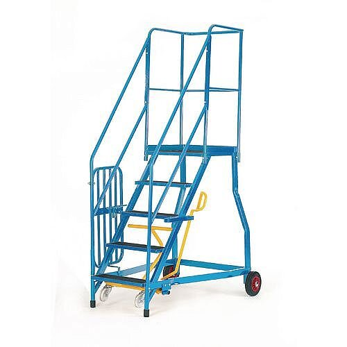 Heavy Duty Warehouse Steps Rubber 5 Treads Max Height 2.15M Platform Height 1.15M