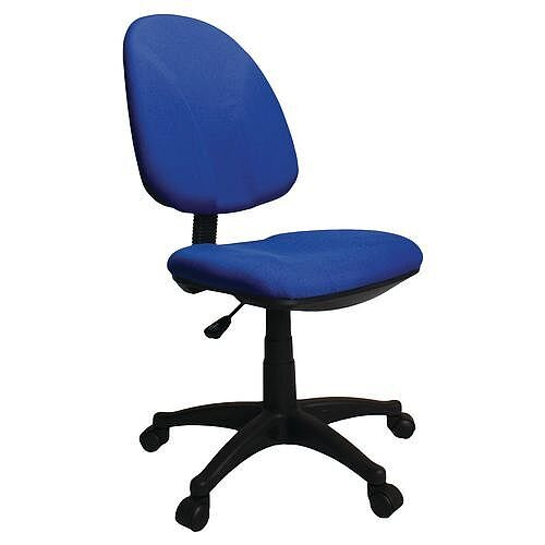 Single Lever Task Operator Office Chair Blue