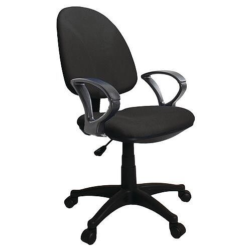 Single Lever Task Operator Office Chair With Arms Black