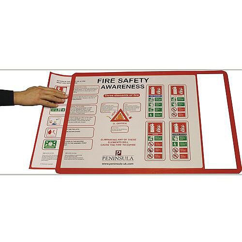 Document Frames A2 Magnetic Red Pack of 10