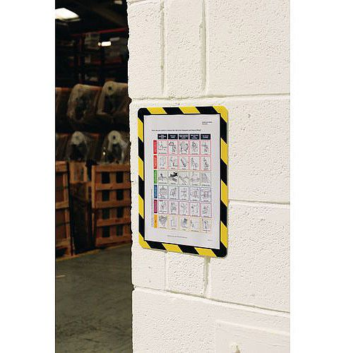 Self-Adhesive Document Frames A4 Self-Adhesive Black And Yellow Pack of 10