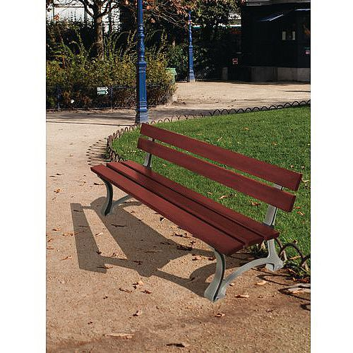 Traditional Cast Steel And Wood Bench Seat