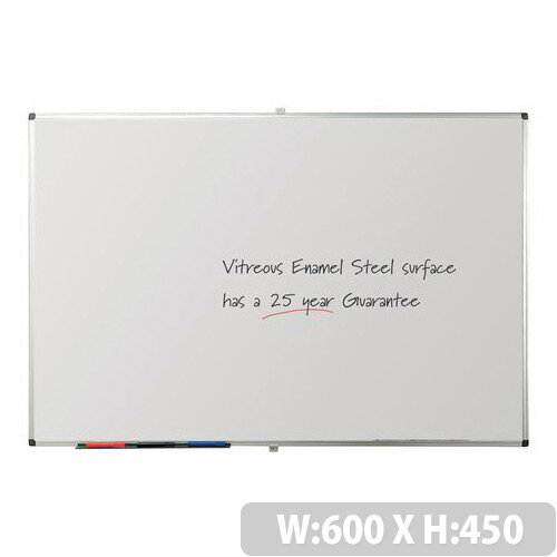 Writeon Premium Vitreous Enamel Magnetic Steel Whiteboard 450X600mm