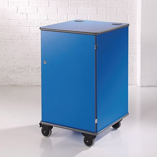 Secure Multimedia Projector Mobile Cabinet Blue