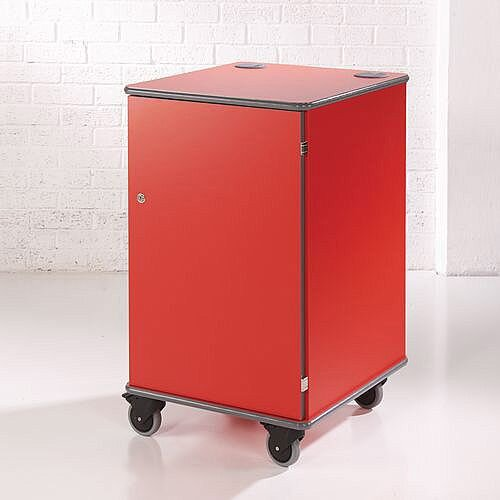 Secure Multimedia Projector Mobile Cabinet Red