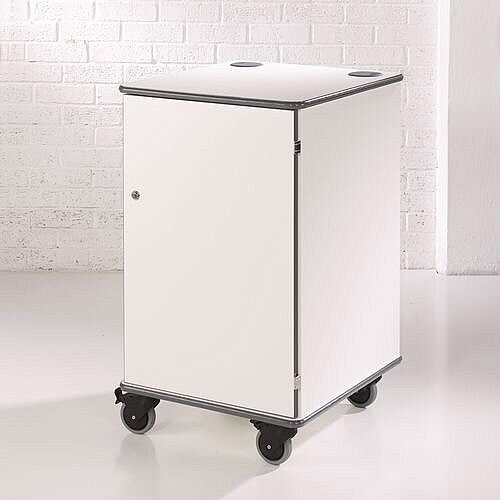 Secure Multimedia Projector Mobile Cabinet White