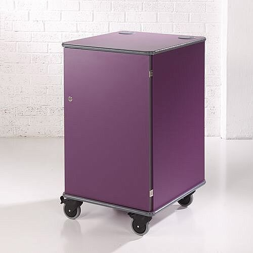Secure Multimedia Projector Mobile Cabinet Purple
