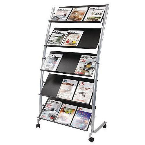Mobile Literature Display Stand 3 x A4