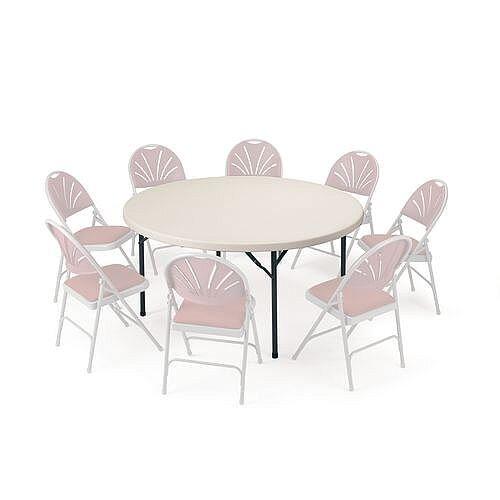 Polyfold Lightweight Folding Circular Table 1220mm Diameter