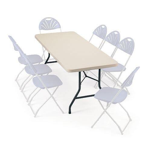 Polyfold Lightweight Rectangular Folding Table 1524mm