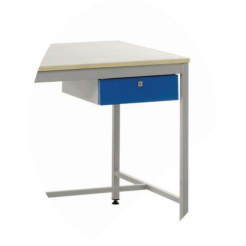 Cantilever Frame Workbench Single Drawer Unit Rhs Blue