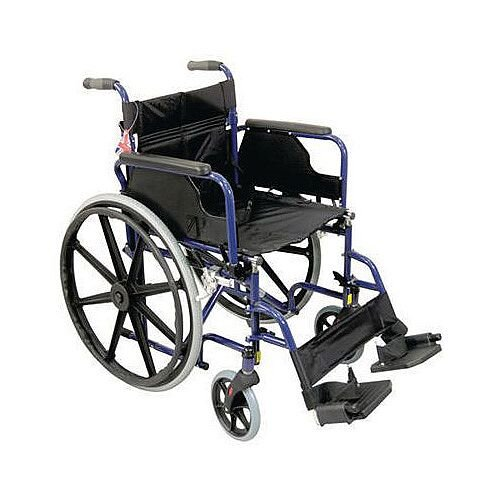 Self-Propelled Wheelchair Blue