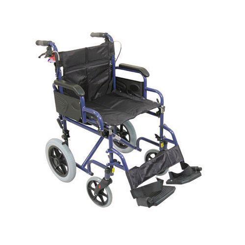Attendant Propelled Wheelchair Blue