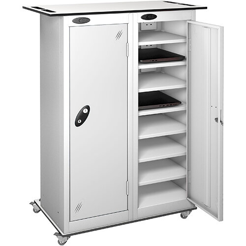Probe Charging Laptop Storage Trolley White