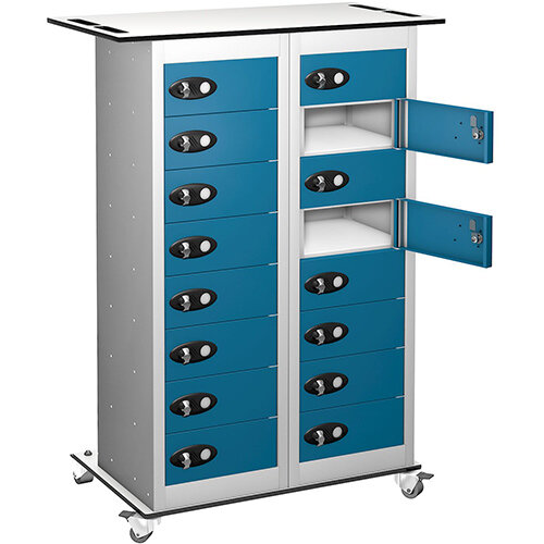 Probe Laptop Storage Trolley White &Blue