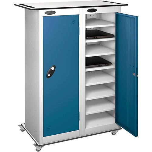 Probe Charging Laptop Storage Trolley White &Blue