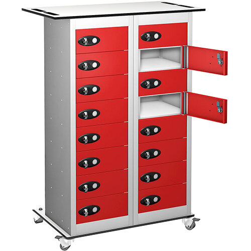 Probe Laptop Storage Trolley White &Red