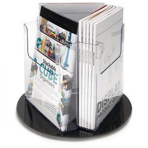 Revolving Literature Holder Pocket Size A4
