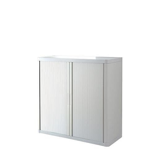 Economy Tambour Cupboard 1040mm High White
