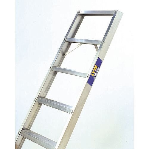Single Straight Shelf Aluminium Ladder No Of Rungs 7 Height 1.71m Silver