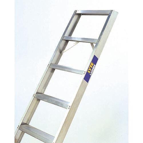 Single Straight Shelf Aluminium Ladder No Of Rungs 9 Height 2.2m Silver