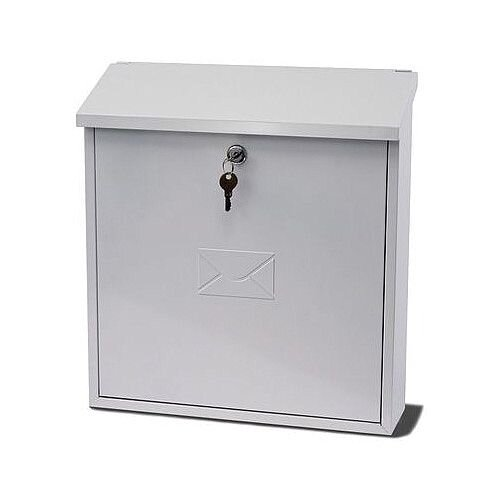 Extra Wide Post Box White