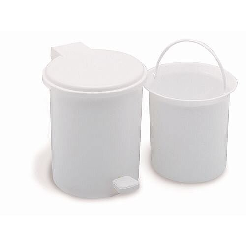 Vanity Bathroom Pedal Bin 2.9L White