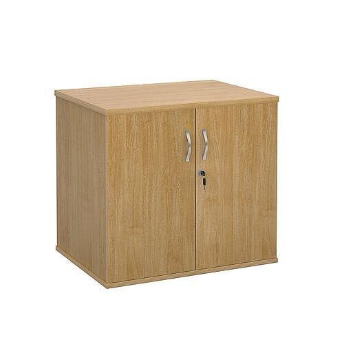 Office Desk High Cupboard Oak
