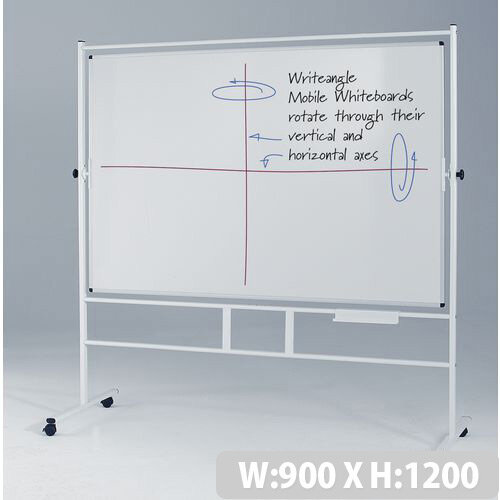 Revolving Double-Sided Whiteboard With Magnetic Surface HxW 1200x900mm