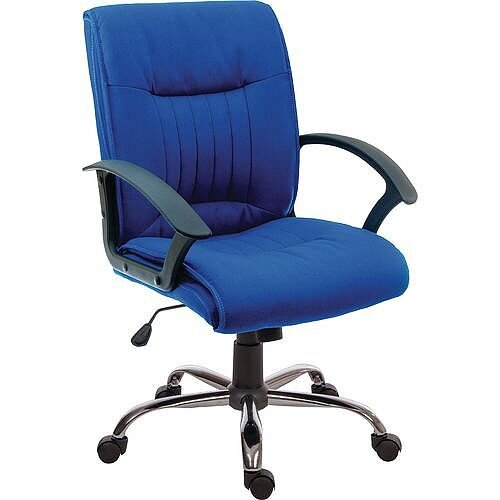 Milan Fabric Executive Office Chair Blue