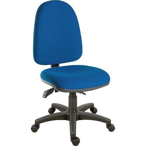 Ergotrio Ergonomic Posture High Back Task Operator Office Chair Blue