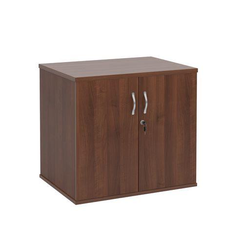 Office Desk High Cupboard Walnut