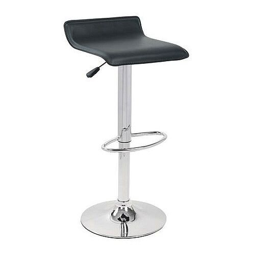Leather Bar Stool Black