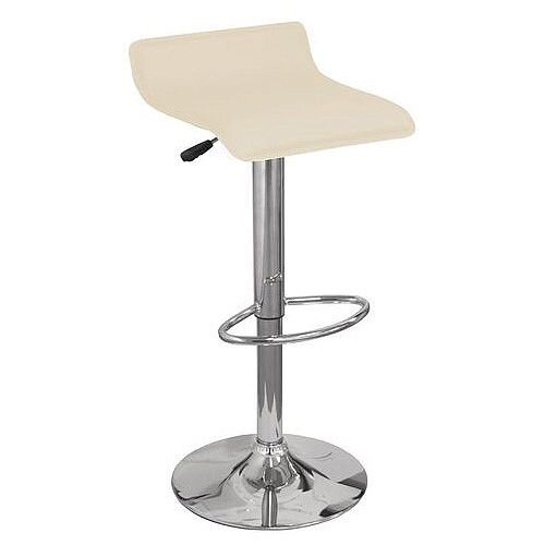 Leather Bar Stool Cream