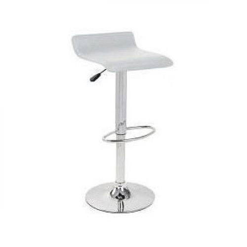 Leather Bar Stool White