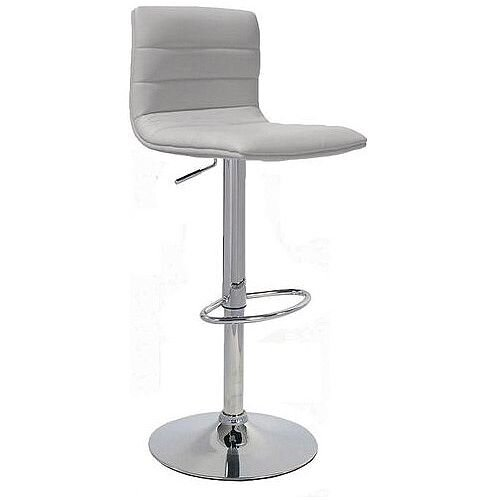 Leather Bar Stool With Back Support White