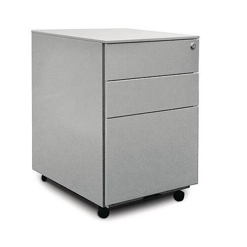 Steel Pedestal Drawers Silver
