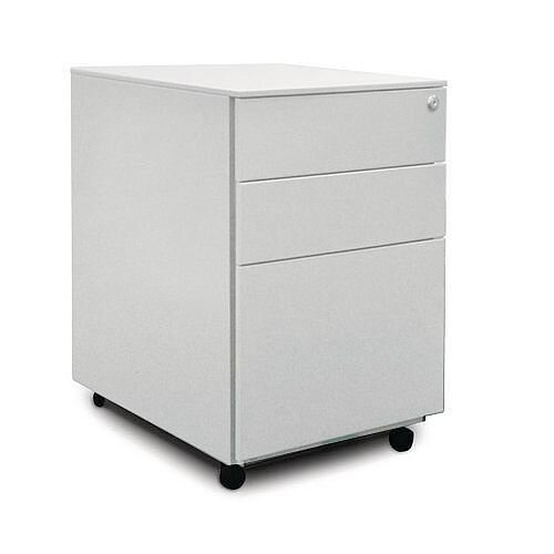 Steel Pedestal Drawers White