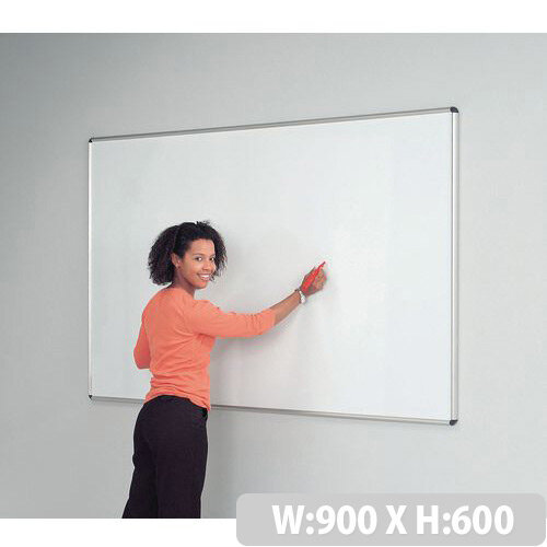 Sheild Deluxe Whiteboard 600x900 Magnetic