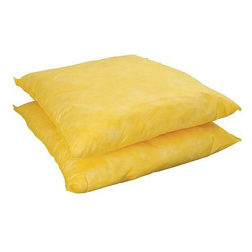Sorbent Cushion Chemical Capacity 40L WxL mm: 450x500 Pack 1
