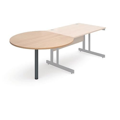Express Desk End Meeting Table Beech